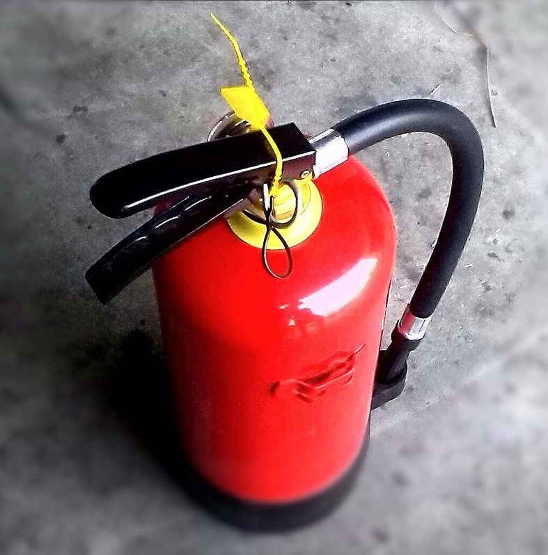 Decorative image of a fire extinguisher as we supply fire extinguishers to northern ireland
