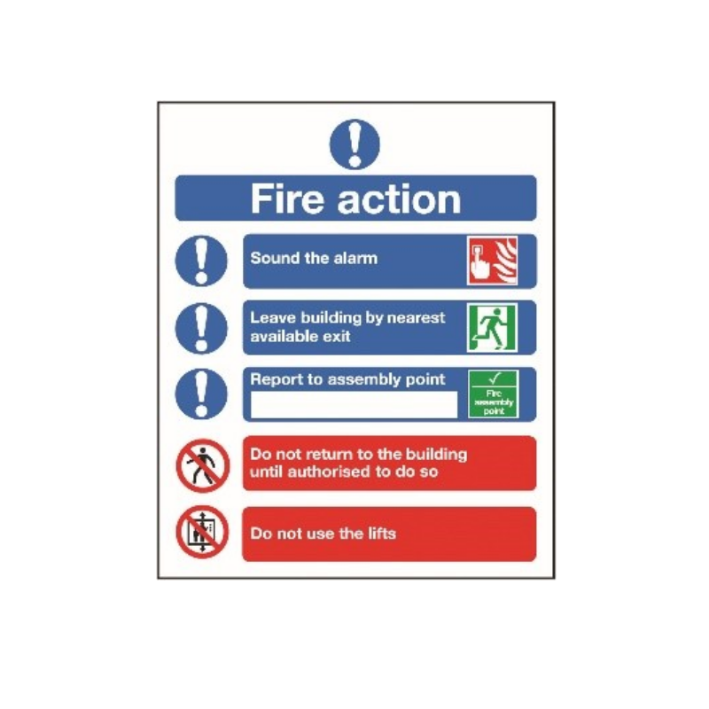 Fire Action Signage Suppliers