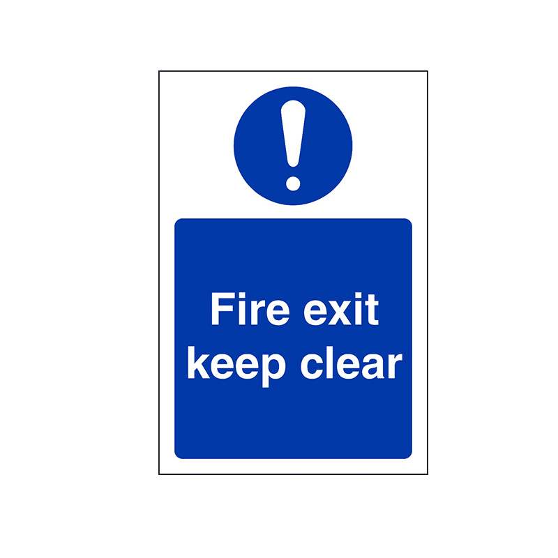 Fire Exit Keep Clear Signage Suppliers